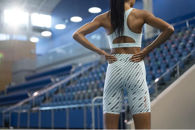 Skins Series-3 Compression Lange Tights Damen Burgundy 2021 Laufsport Hose